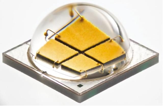 Egy korszerü, magas hatásfokú LED (forrás: Cree)