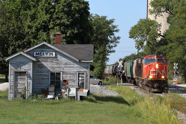 CN 5738 north in Melvin, Illinois on September 2, 2021.