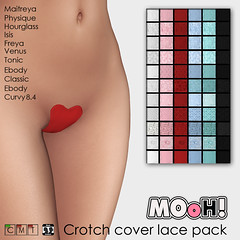 Crotch cover lace pack