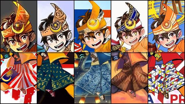 03_Artworks Of Different Samping And Tengkolok Designs