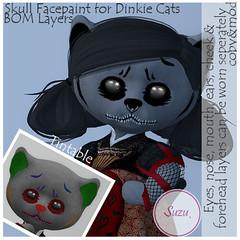 Skull Facepaint for Dinkie Cats