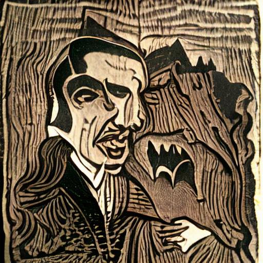 'a woodcut of Dracula' CLIPIT