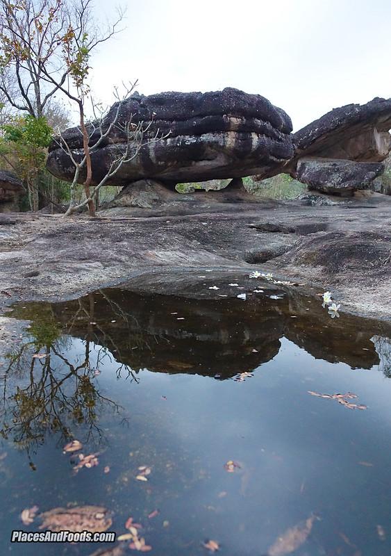 phu phra bat historical park rock reflection