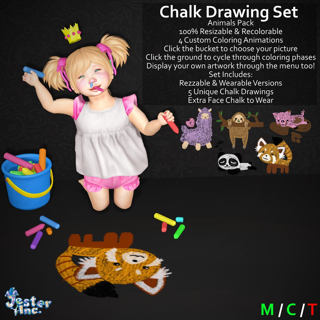 Presenting the new Interactive Chalk Drawing Sets from Jester Inc.