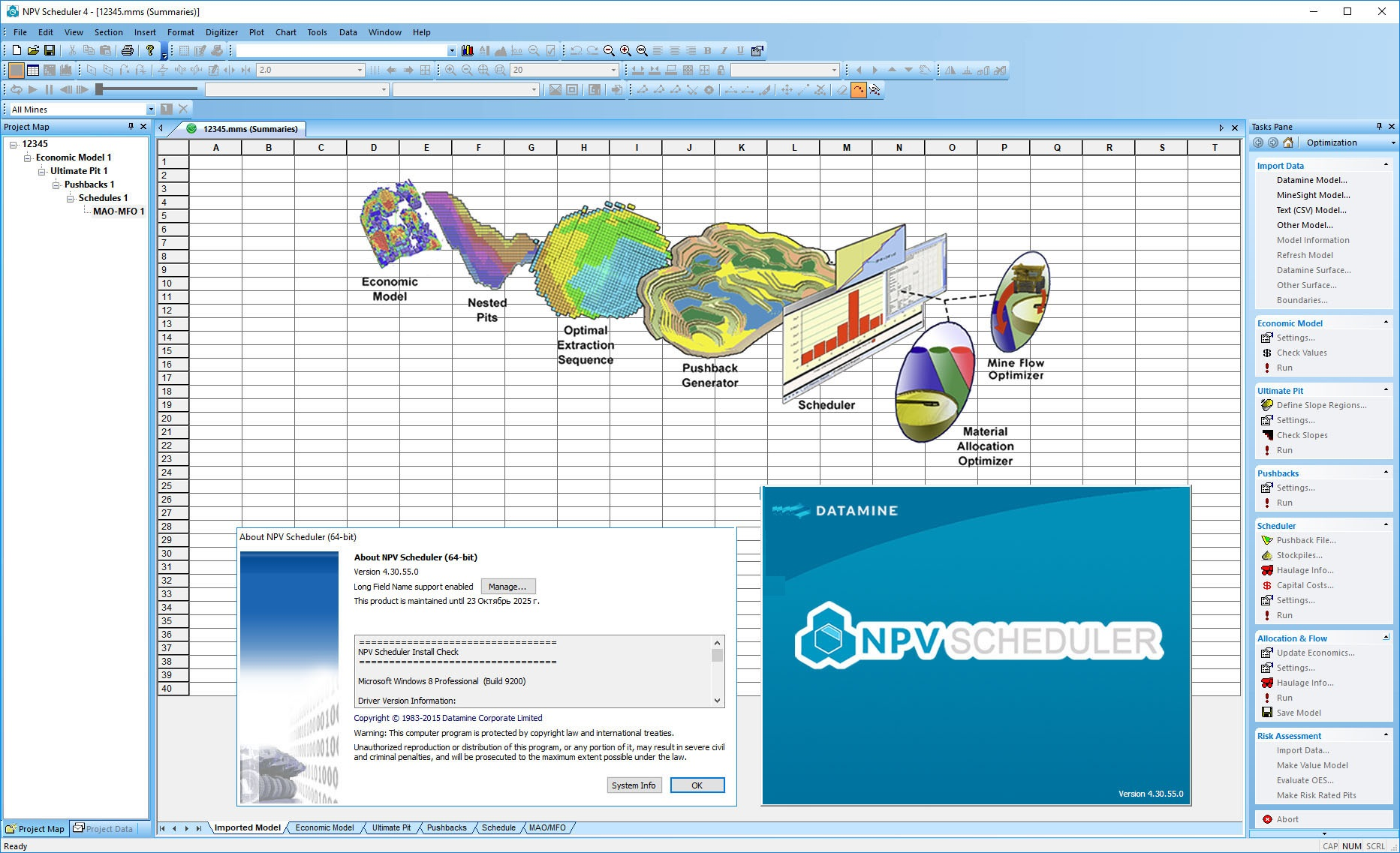 Working with Datamine NPV Scheduler 4.30.55.0 full