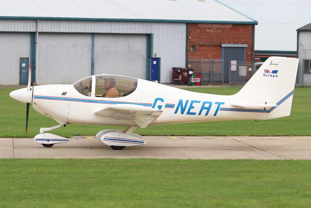 G-NEAT  -  Europa Aviation Europa c/n PFA 247-12642  -  EGBK 4/9/21