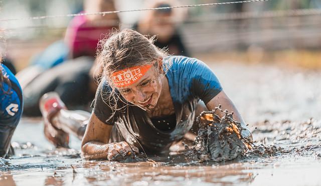 Muddy struggle.