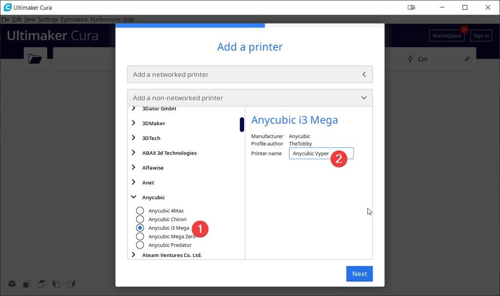 Comment configurer Cura pour la Anycubic Vyper