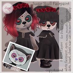 Sugar Skull Facepaint for Dinkie Cats