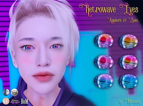 Retrowave Eyes for FEMBOY HUNT