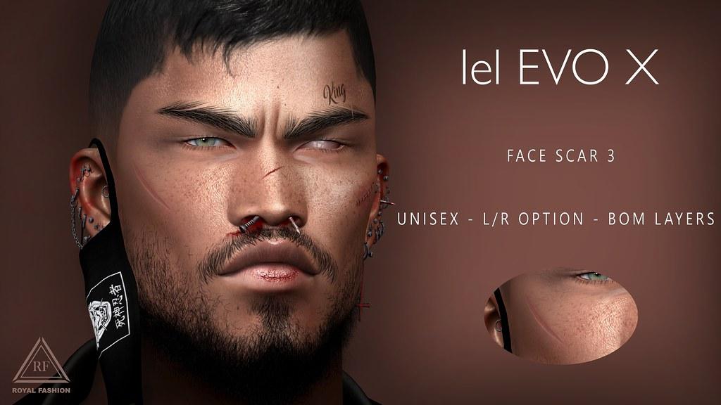 [ Royal Fashion ] Face Scar 3 Lelutka EVOX