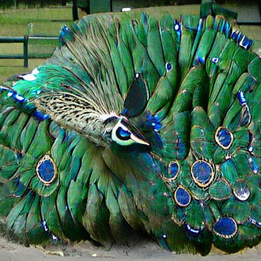 'a peacock' CLIPIT