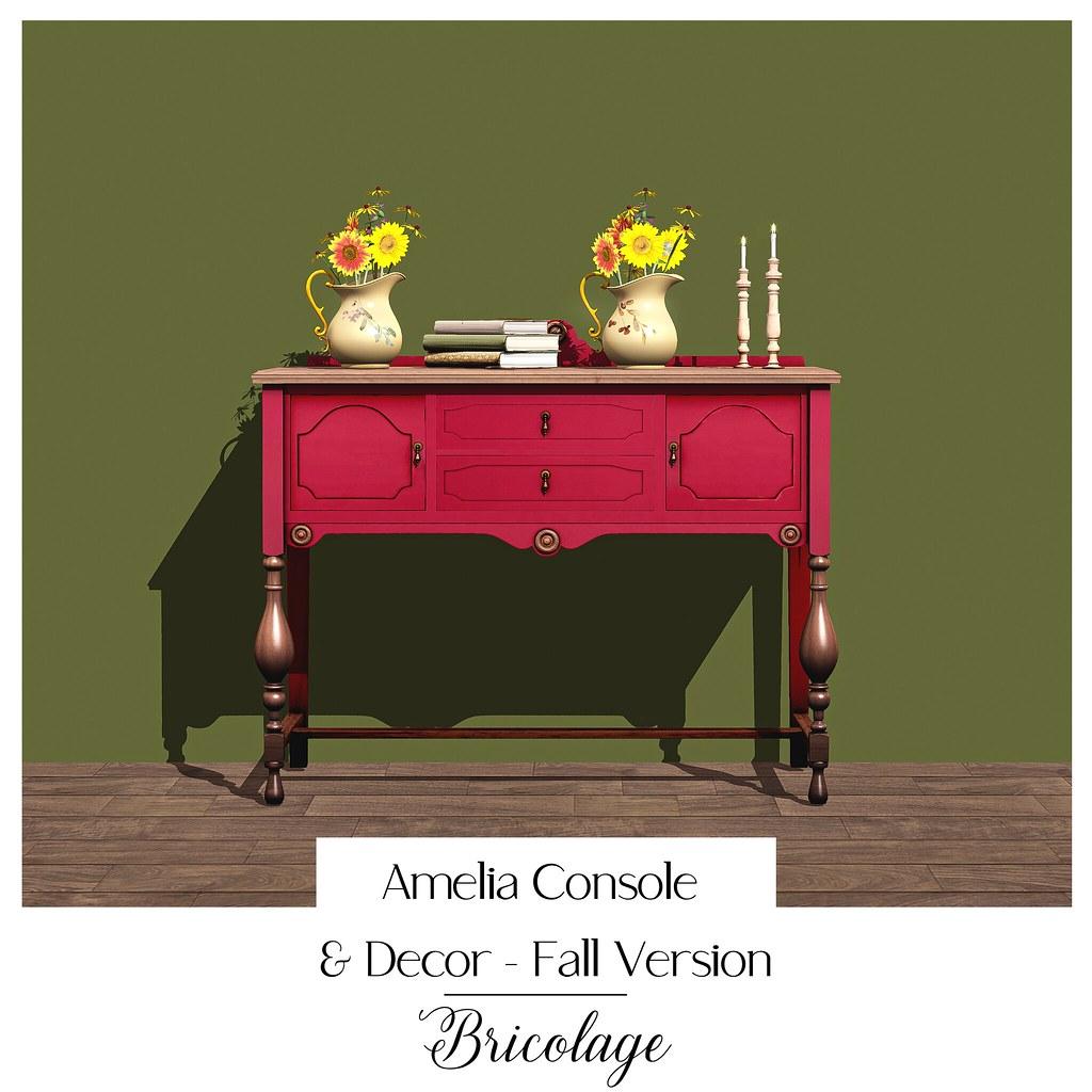 Bricolage Amelia Console & Deco, Fall Version
