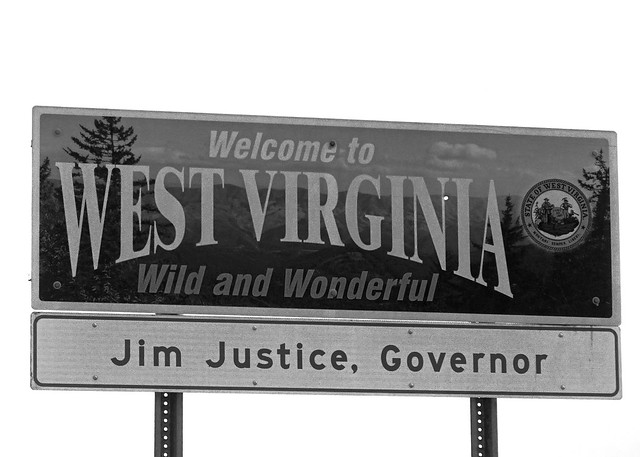 WV, Silver Lake-U.S. 219 West Virginia Welcome Sign