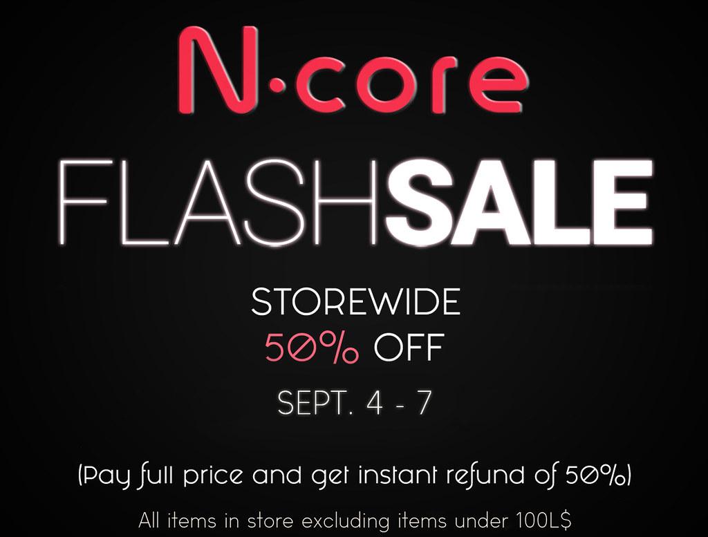 N-core FLASH SALE! 50%OFF