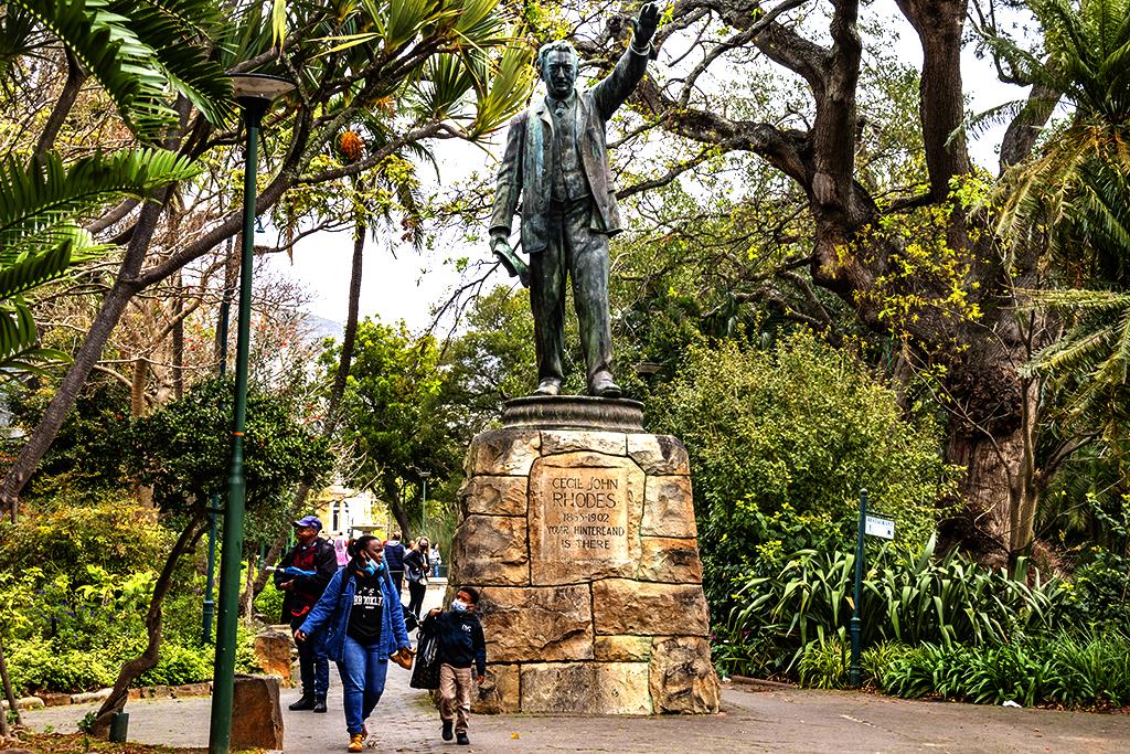 Statue of Cecil John Rhodes in Company's Garden on 9-4-21--Cape Town