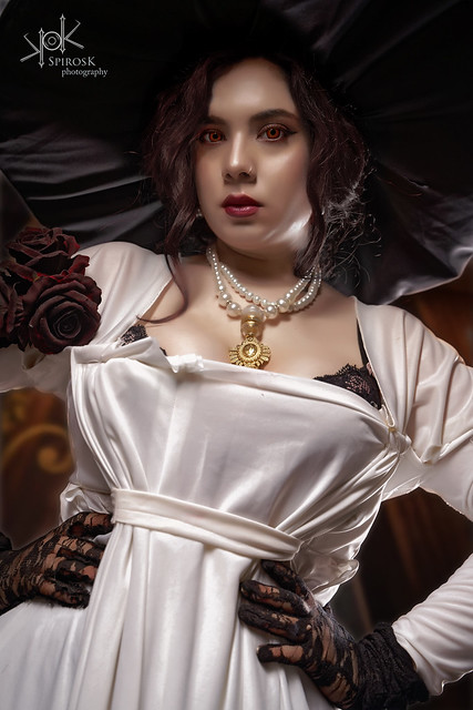 Eva Leexart as Lady Dimitrescu from Resident Evil Village by SpirosK photography (Part II: Yes, Mother)