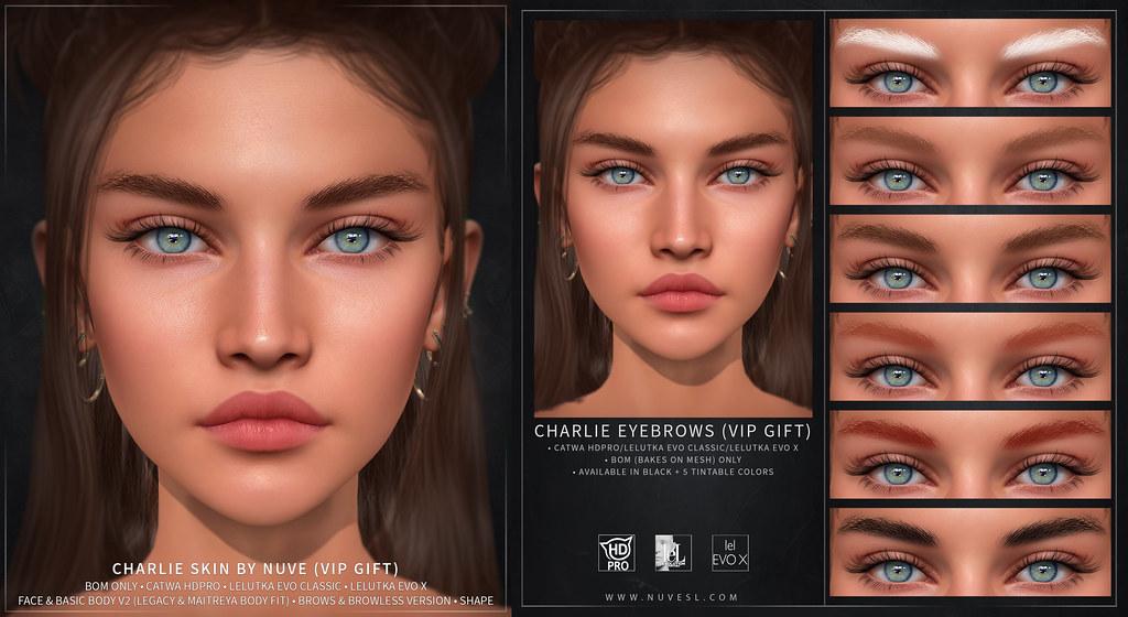 Charlie skin and eyebrows – Catwa HDPRO/LeL Evo Classic/Evo X