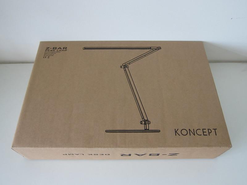 Koncept Z-Bar LED Desk Lamp - Box Front