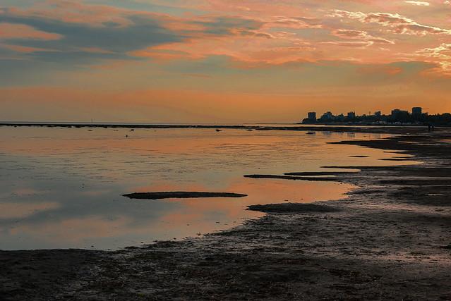20140428_0511_Veneto-Venedig(261) - Die Silhoutte von Grado im Abendlicht / The silhouette of Grado in the evening light