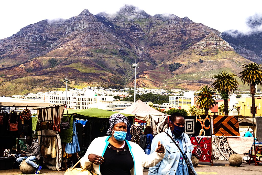 Grand Parade with Devil's Peak in background on 9-4-21--Cape Town