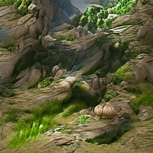 'an illustration of of a mountainscape' Art Machine