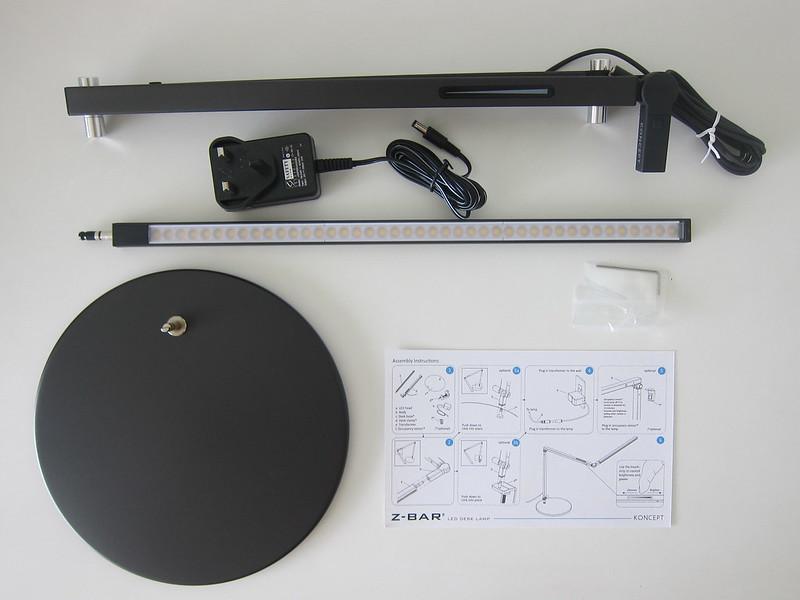 Koncept Z-Bar LED Desk Lamp - Box Contents