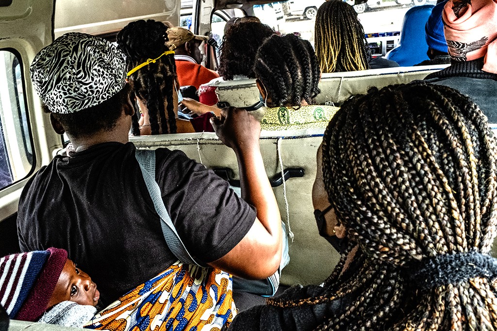 Inside a taxi van on 9-5-21--Cape Town