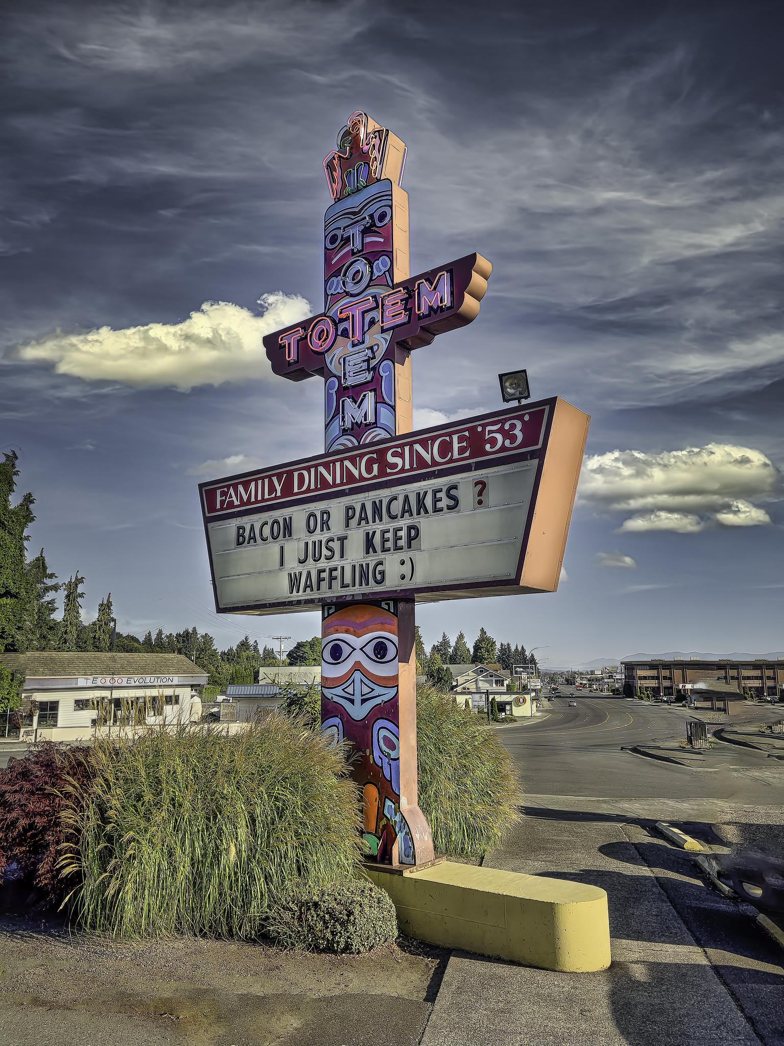 Totem Family Diner - 4410 Rucker Avenue, Everett, Washington U.S.A. - September 2, 2021