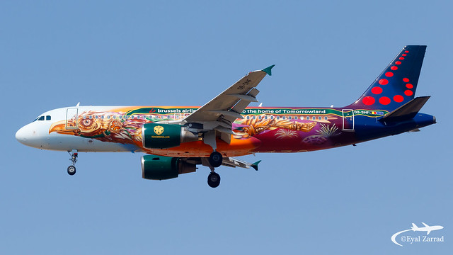 TLV - Brussels Airlines Airbus A320 OO-SNF
