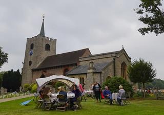 Cream teas in the churchyard