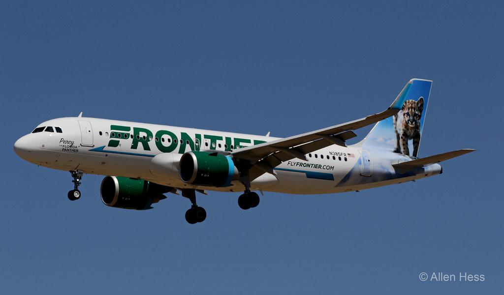N385FR Frontier Airlines (Percy the Florida Panther), Airbus A320-------2021-0904-022