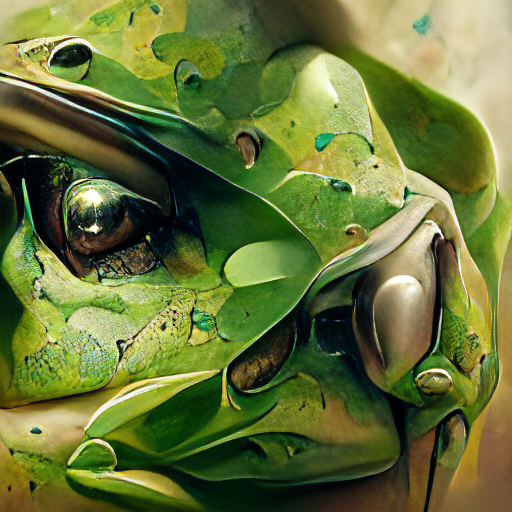 'an ultrafine detailed painting of a green tree frog as created by Craig Mullins' Art Machine