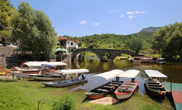 The historical Rijeka Crnojevića bridge