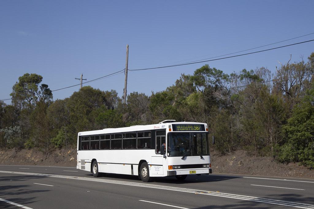 Transdev NSW (8827) Mercedes Benz O405/Custom Coaches at Berowra.