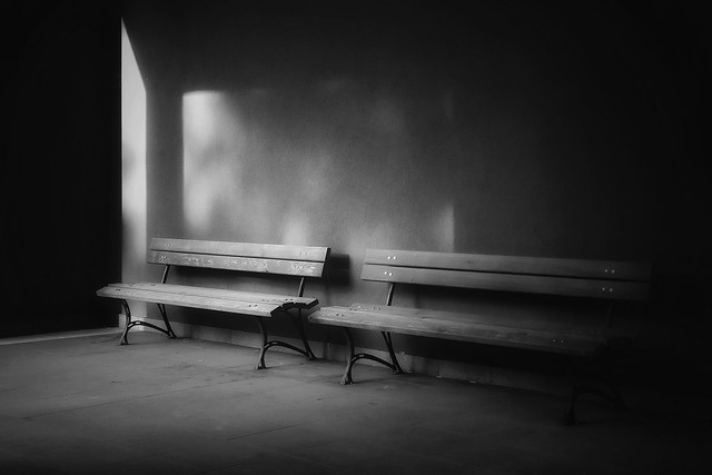 benches b&w