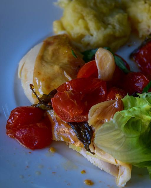 Poulet rôti aux tomates et gnocchi géant 1
