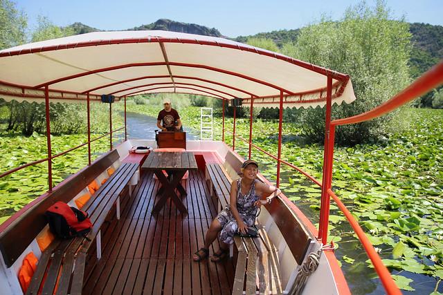 Kanitha enjoys the boat trip in Lake Skadar National Park.