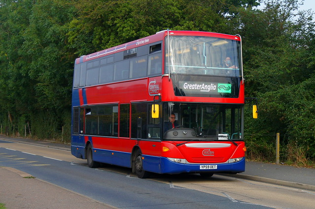 Rail Replacement: Trustybus (ex RATP London United SP40158) Scania Omnicity YP59OET Church Road Stansted Mountfitchet 05/09/21