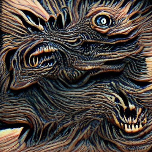 'a woodcut of a nightmare creature' Art Machine