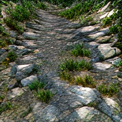 'a mosaic of a mountain path | CryEngine' Art Machine