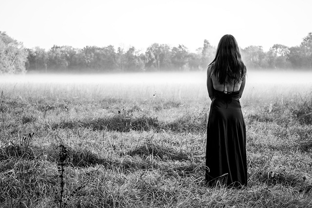 gothic girl and the spiders field