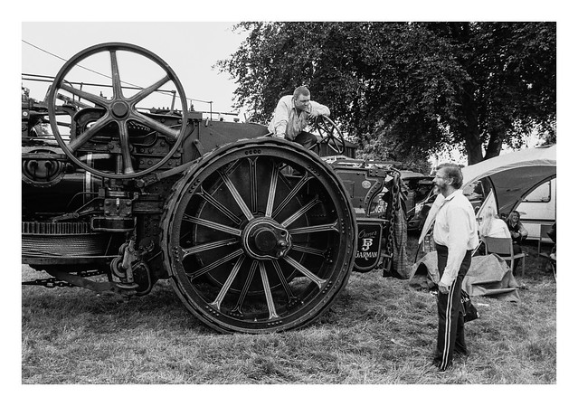 Two guys and a traction engine