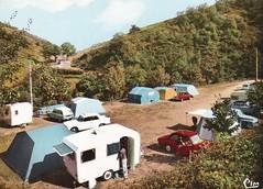 Postcard Camping Le Paradis Villefort (48 Lozère) 1965