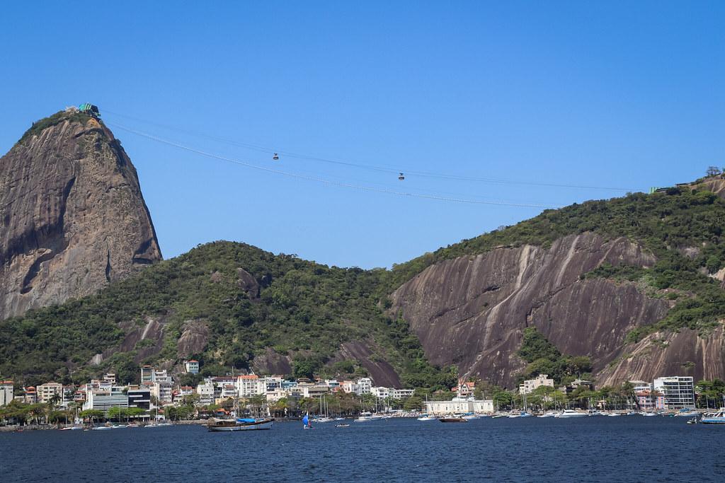 Vista do Pão de Açúcar no Monumento Estácio de Sá - Aterro do Flamengo/ RJ
