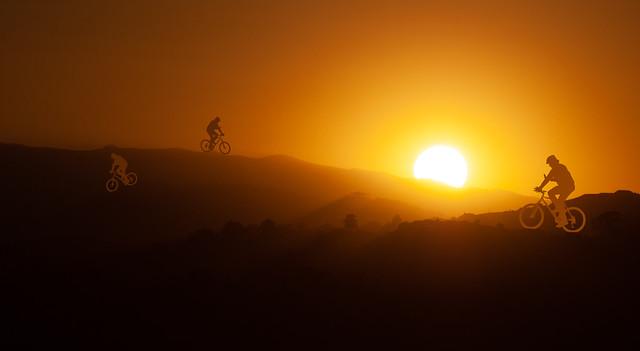 Sunset Bikers