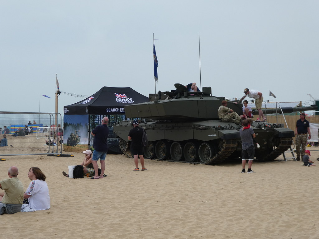 An army tank at the Bournemouth Air Show