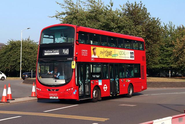 Route X140, London Sovereign, VH45132, LJ15JZH