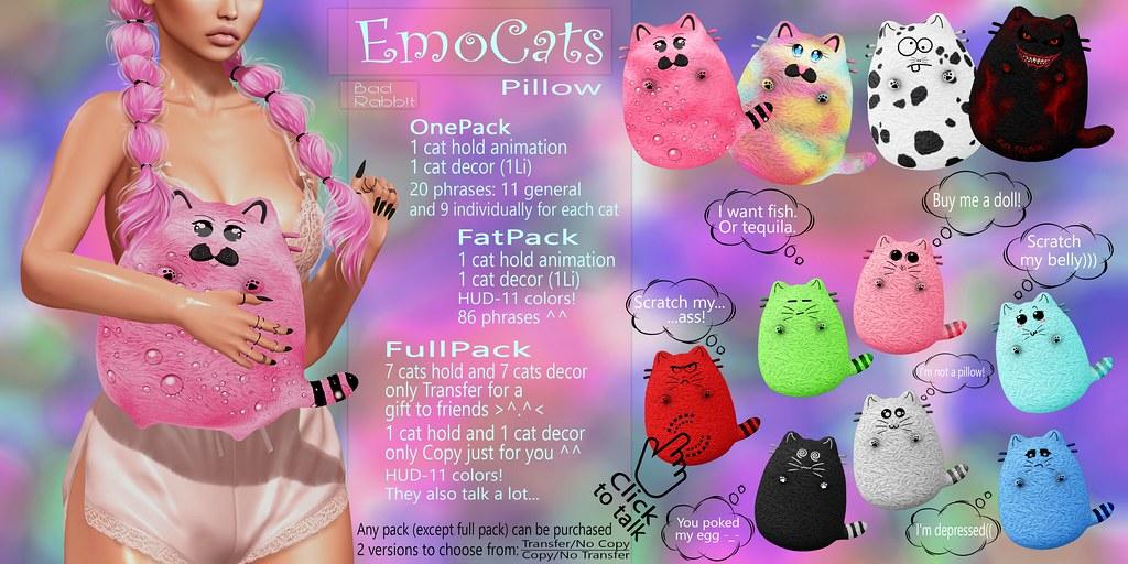 .:Bad Rabbit:. EmoCats Pillow CONTEST GIVEAWAY!!!!!