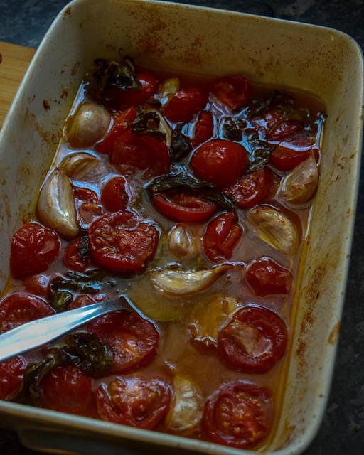 Poulet rôti aux tomates et gnocchi géant 3